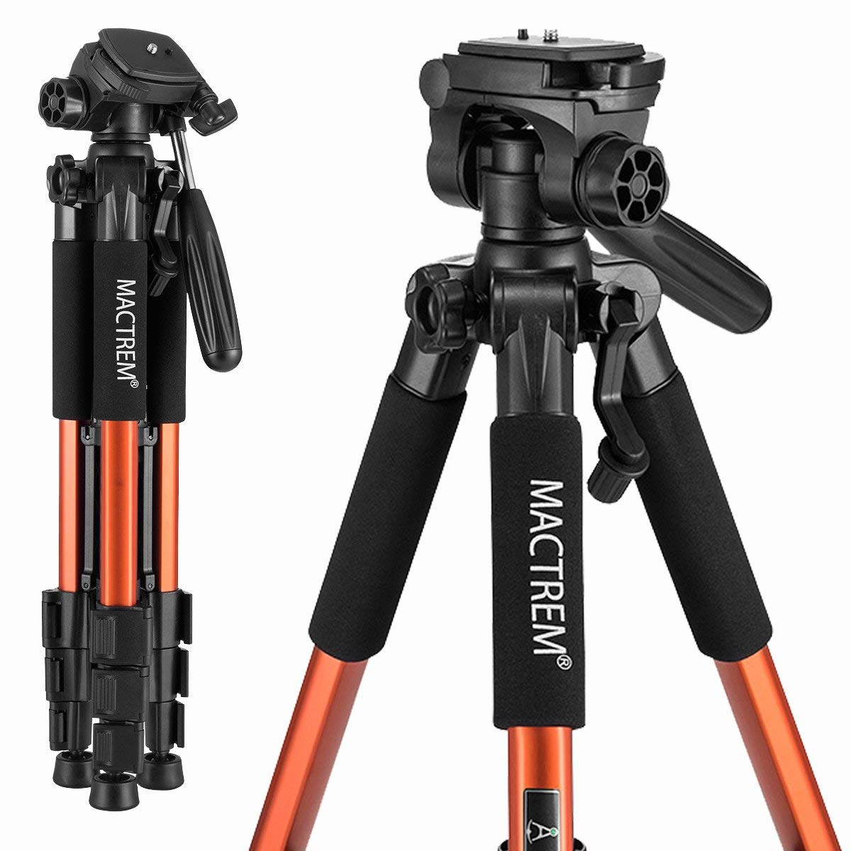 Mactrem PT55 Travel Camera Tripod Lightweight Aluminum for DSLR SLR