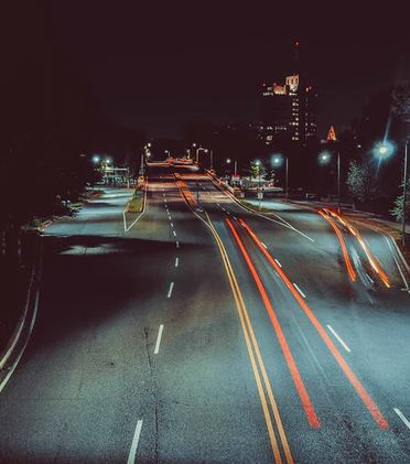 a long exposure photo of a road